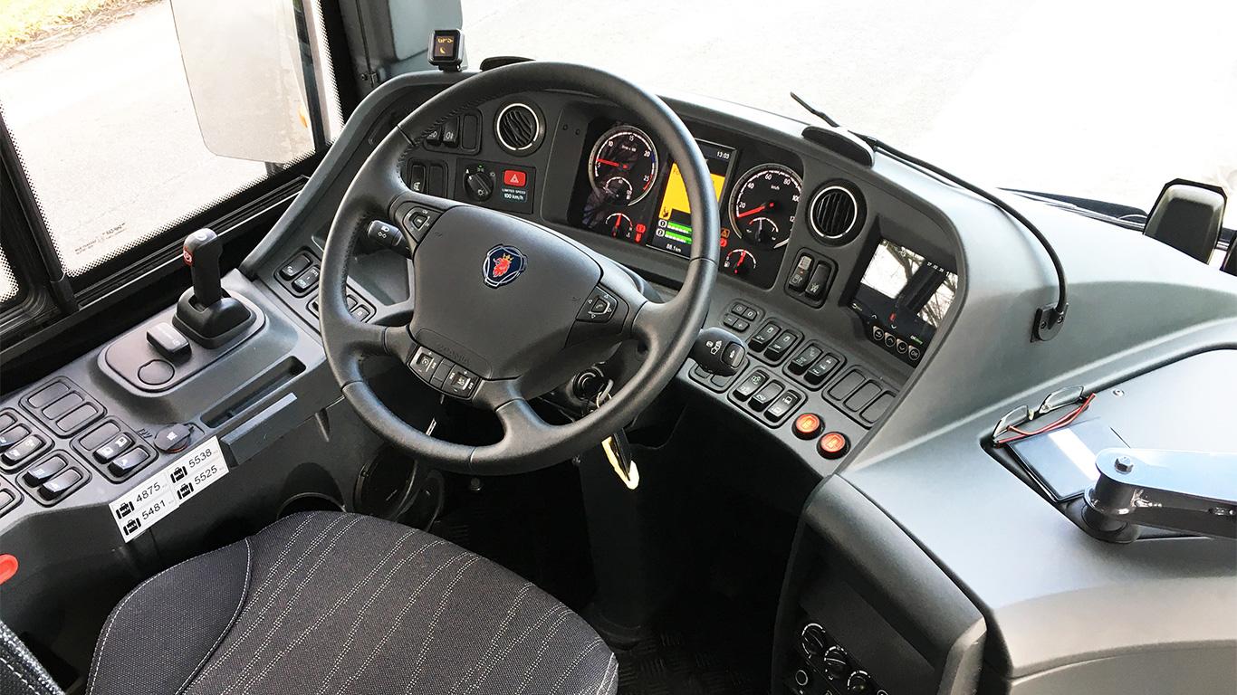 Scania förarutrymme