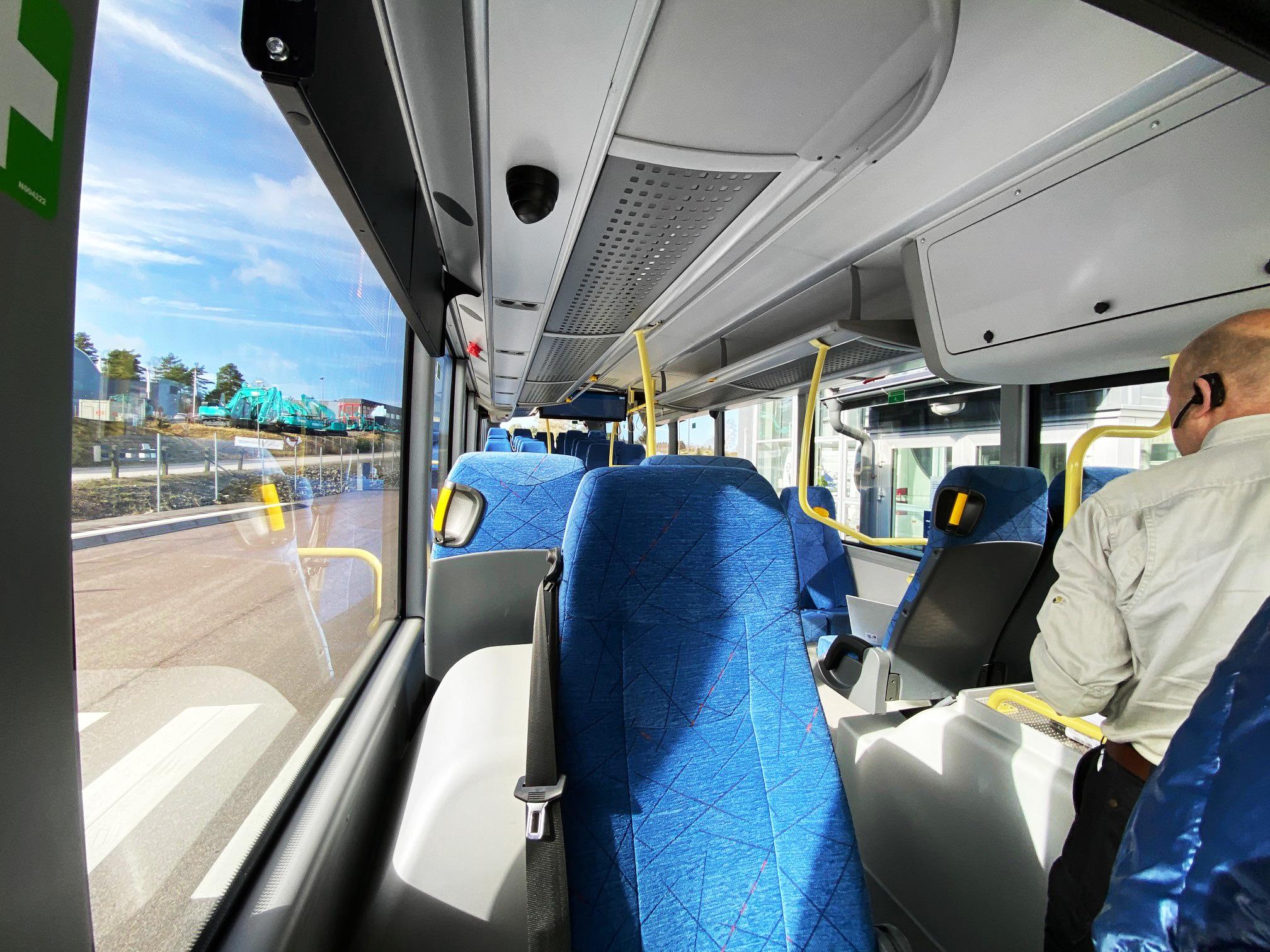 Insidan av Scania Citywide Suburban